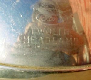 Antique RARE 50s 60s Ford  Police Car Stop headlamp London Ontario image 3