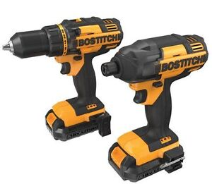 BRAND NEW IN BOX BOSTITCH 18V Lithium 2 Tool Combo Kit