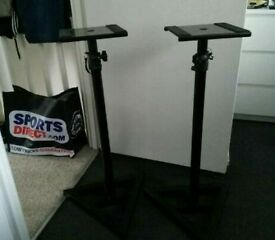 Height adjustable Studio Monitor Stands (Brand New)