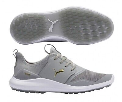 Puma Mens Ignite NXT Lace Spikeless Golf Shoe High Rise/Gold 192225 - Pick Size