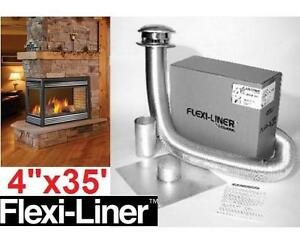 """NEW SELKIRK CHIMNEY VENT KIT 4""""x35' Gas Relining Flexi-liner Kit, Aluminum  Fireplace Accessories 108301612"""