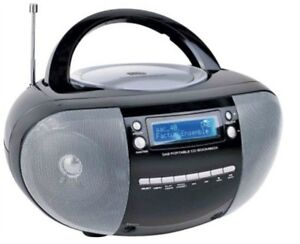 NEW-Bush-KW-51DAB-Portable-CD-Boombox-Stereo-with-DAB-Radio-Black-and-Silver