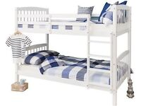 BEAUTIFUL WHITE PINE BUNK BED THAT CAN BE SPLIT TO 2 SINGLE BEDS