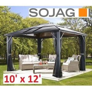 NEW* SOJAG MERIDIEN SUN SHELTER 500-5157857 174365246 10' x 12' CHARCOAL PATIO OUTDOOR PROTECTION