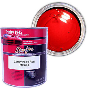 acrylic enamel auto paint candy apple red metallic 1 gallon. Black Bedroom Furniture Sets. Home Design Ideas