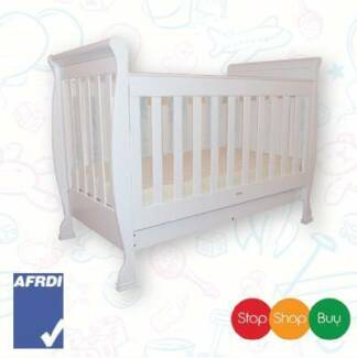 Brand New Sleigh Baby Cot crib Toddler Bed Walnut or white Auburn Auburn Area Preview