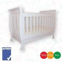 Brand New Sleigh Baby Cot Bed Walnut or white With Mattress Auburn Auburn Area Preview