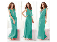 Womens Long Chiffon Bohemian Dress