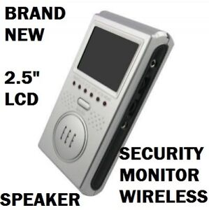 "2.5"" LCD Wireless Security Camera Baby Monitor Receiver Speaker"