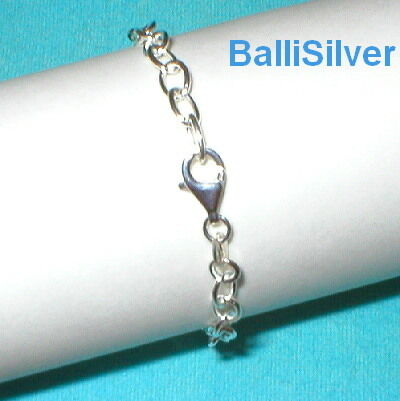 4 St Silver 1mm Thick Cable Chain Starter BRACELETS Lot