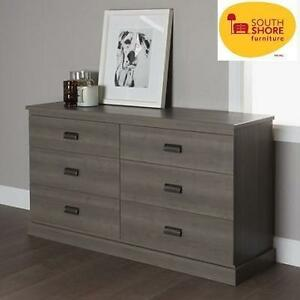 NEW* SOUTH SHORE DRAWER DRESSER - 117716798 - GRAY MAPLE FINISH DOUBLE