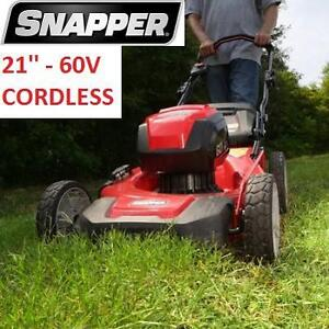 NEW SNAPPER 21'' ELECTRIC MOWER - 114220694 - 60V CORDLESS ELECTRIC START