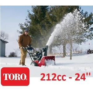 NEW TORO SNOW BLOWER 212cc 37779 154261050 SNOW REMOVAL CLEARING 24'' ELECTRIC START