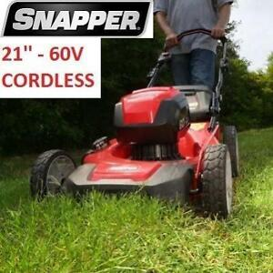 USED* SNAPPER 21 CORDLESS MOWER SP60V 249718708 60V ELECTRIC START LAWN MOWER
