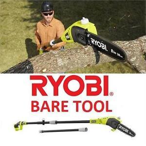 NEW OB RYOBI 18V CORDLESS POLE SAW - 112872627 - WITH 8''  BLADE, 9.5' - BARE TOOL