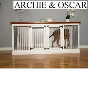 NEW DOUBLE LARGE PET CRATE CREDENZA 199197575 ARCHIE  OSCAR SABLE FINISH DOUBLE WIDE LARGE