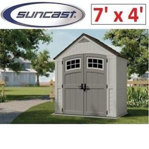NEW* SUNCAST CASCADE SHED 7' x 4' BMS7400 215144048 UTILITY SHED GARAGE STORAGE