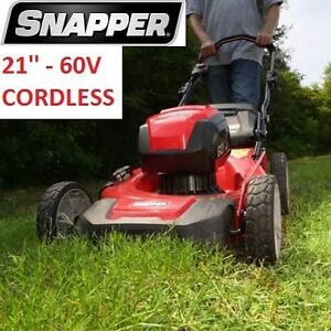 NEW* SNAPPER 21'' ELECTRIC MOWER - 114229150 - 60V CORDLESS ELECTRIC START