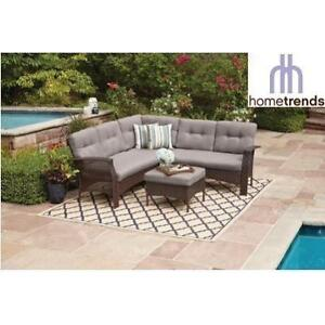 NEW* TUSCANY 4PC SECTIONAL SET LG6601-5APCGY 201742084 HOMETRENDS WICKER GREY CUSHIONS PATIO FURNITURE