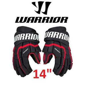 "NEW WARRIOR HOCKEY GLOVES 14"" SR COVERT, RED SENIOR 100225070"