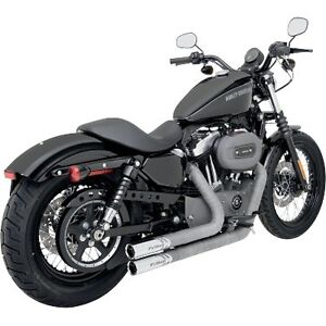 PYTHON THROWBACK EXHAUST HARLEY SPORTSTER 883 1200 MODELS 2004-2013