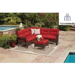 NEW TUSCANY 4PC SECTIONAL SET LG8209-S4PC RD 246721491 HOMETRENDS WICKER RED CUSHIONS PATIO FURNITURE