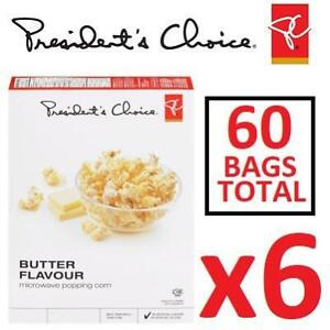 NEW 6PK PC BUTTERED POPCORN 187892304 PRESIDENT'S CHOICE CASE OF 6 BOXES EXPIRES JAN 18 2019