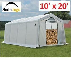 NEW* SHELTERLOGIC FIREWOOD SHED 90397 199947931 FIREWOOD 10' x 20'