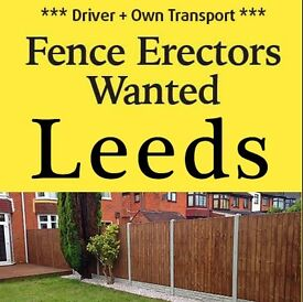 £100 a Day, Fence Erector who Drives wanted for casual / permanent work