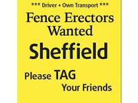 Experienced Fencers / Fencing Labourers WANTED Sheffield
