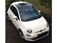 Fiat 500 Lounge Monochrome edition with FULL LEATHER (rare car).