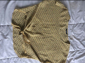 Brody Myles yellow patterned top