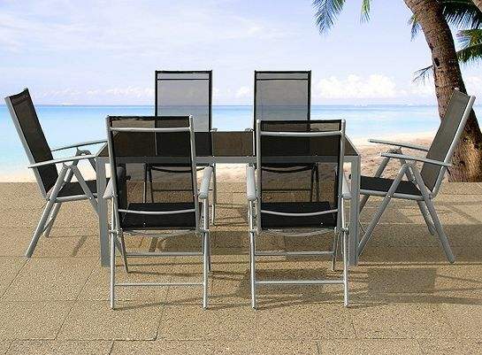 Outdoor aluminum resin wicker granite teak dining sets for Outdoor furniture kijiji