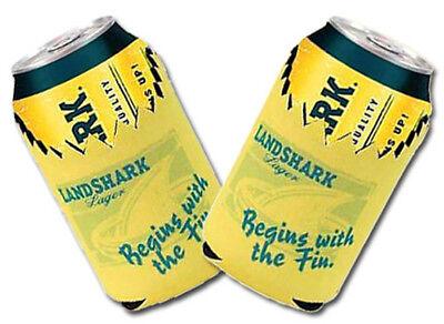 LANDSHARK LAGER 2 SHARKBITE BEER CAN HOLDERS COOLER COOLIE KOOZIE HUGGIE NEW