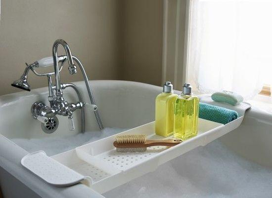 Tub Bathtub Shelf Caddy Shower Expandable Holder Tray Over Bath ...