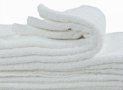 2 white 100% cotton economy best brand bath towels 22x44 bleach safe