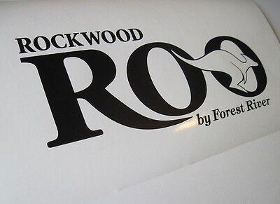 4 x ROCKWOOD ROO RV FOREST RIVER DECAL STICKER CAMPER WHEEL TRAILER 4DSN
