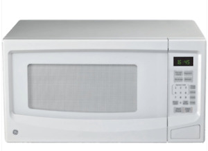 General Electric White Countertop Microwave, Condition Like New