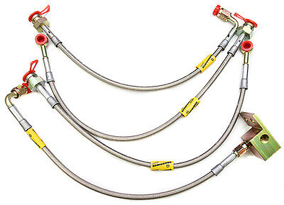GOODRIDGE stainless steel BRAKELINES BRAKE LINES KIT 90 05 Mazda Miata ALL