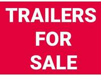 Erde 122 classic trailer with enclosed locking cage