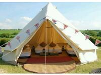 4m & 5m Luxury Bell Tent for Weekend Parties Sleepovers Weddings Birthdays