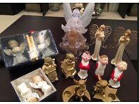 Job lot of assorted Cherub & Christmas Ornaments