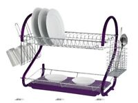 PLATE DISH CUTLERY CUP DRAINER RACK DRIP TRAY PLATES HOLDER