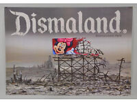 BANKSY - ORIGINAL LIMITED EDITION DISMALAND POSTER - c2015 (ORIGINAL TUBE/UNUSED)