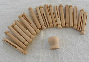Old Fashioned Clothes Pegs