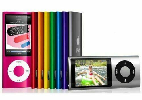 Apple iPod Nano 5th Generation 8GB 16GB All Colors Silver Gray Blue Green Purple