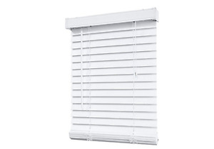 2 Inch Faux Wood Blind, White ( 15 in total - Variety of sizes )