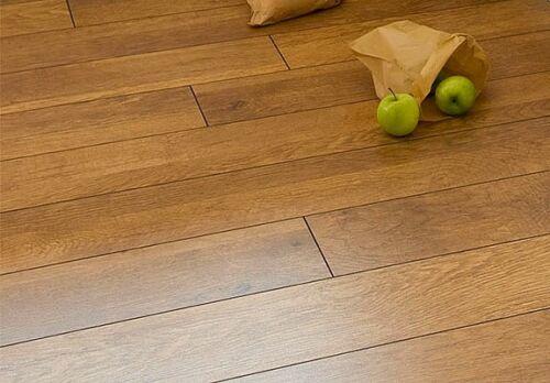 Harvest oak v groove 8mm laminate flooring pallet ebay for Harvest oak laminate flooring
