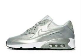 Silver Nike air max size c12.5 worn twice
