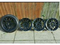 15 inch Universal Alloys Black